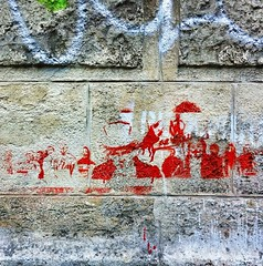 Wikileaks stencil (red) (famiglia_vienna) Tags: vienna streetart wall graffiti stencil paint spray pochoir wikileaks famigliavienna iphoneonly iphoneartists igersvienna uploaded:by=flickrmobile flickriosapp:filter=nofilter igersaustria instagramersvienna