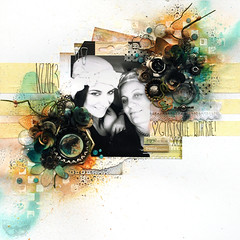 Gupsy Style - Prima BAP May (finnabair) Tags: sunset sunrise scrapbooking layout stencil mixedmedia tape prima scrap mechanicals luminarte finnabair