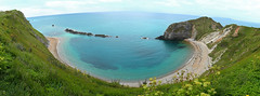 Man of War Bay, Dorset (Ron and Co.) Tags: sea panorama beach landscape bay coast cove dorset manowar jurassiccoast stoswaldsbay