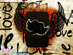 Winged Lovely Heart (Soul Lovely Things) Tags: love mobile flying heart handmade crafts craft felt crafty lovely kawtharalhassan soullovelythings