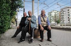 I tre dell'Ave Maria (OrnellaParisi) Tags: portrait people rome roma station project aba oldmen pendolari funnypic romatrastevere ornellaparisi ornellaparisiphotography