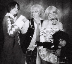 Cosplay at 3200 (kevin dooley) Tags: arizona bw white black anime film analog iso3200 costume lomo lomography cosplay grain az grainy 3200 ilford mesa 2011 tempecamera dianaflash taiyoucon