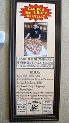 Filomena's Super Slice Challenge (Coyoty) Tags: food sign manchester restaurant italian connecticut ct pizza slice takeout delivery pizzeria challenge filomenas