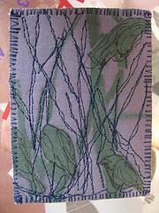 Nocturne No. 2 (kbaxterpackwood) Tags: tree thread birds ink stencil stitch machine fabric nocturne kona aurifil tsukineko 062613