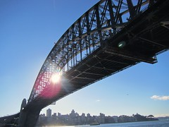 Harbor Bridge in the morning