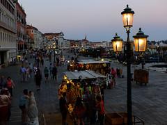 Venice At Night (tubblesnap) Tags: venice sunset italy holiday lamp st square canal san dusk palace marks campanile marco gondola lantern piazza doges