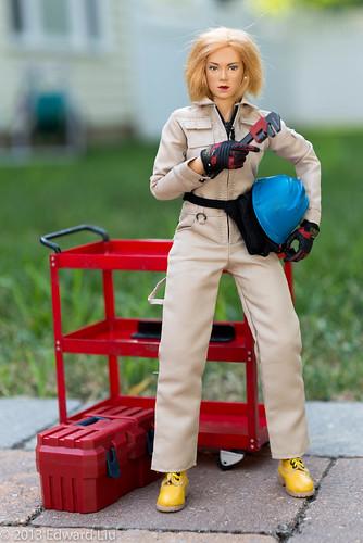 hardhat destiny takara coverall constructionworker cygirl 16scale femaleactionfigure zcgirl zcworld menshommes