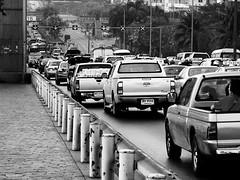 P1010131Axx (kanizfotolio) Tags: blackandwhite thailand asia traffic bangkok signature line panasonic pollution thai dmc fz50