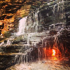 Eternal Flame (nisaaax) Tags: orange fall nature water fire waterfall amazing hiking flames adventure flame eternal eternalflame uploaded:by=flickrmobile flickriosapp:filter=nofilter