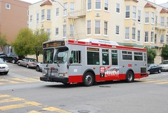Muni Orion (So Cal Metro) Tags: sanfrancisco bus metro muni transit coittower northbeach orion telegraphhill orionvii uploaded:by=flickrmobile flickriosapp:filter=nofilter