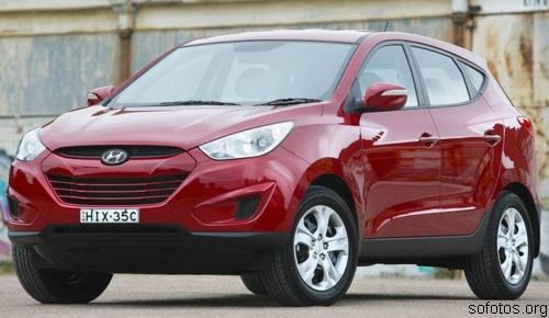 Hyundai ix35 vermelho
