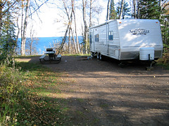 Temperance River State Park campground has access to Lake Superior beaches