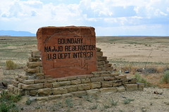Navajo Nation (Lou Morgan) Tags: road travel vacation usa holiday west sign us interior south roadtrip journey roadsign navajo boundary reservation dept