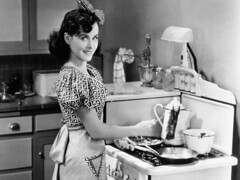 Paulette Goddard, 1936 (sweetvintagegal) Tags: cooking kitchen 1936 vintage 1940s paulettegoddard