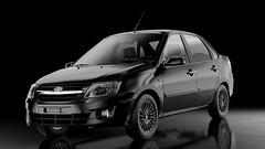 Lada Granta (Artem Yuldashev) Tags: car studio 3d model russia render lada 3dmodel russiancar vray 3dmax granta blackbackround avtovaz ladagranta