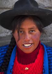 Young Peruvian Woman With A Hat, Qoyllur Riti Festival, Ocongate Cuzco, Peru (Eric Lafforgue) Tags: portrait people peru latinamerica southamerica smile hat smiling festival vertical inca cuzco outdoors photography clothing women shrine colorful adult religion celebration andes braids spiritual cultures pilgrimage sanctuary adultsonly oneperson altiplano frontview lifestyles headwear headandshoulders placeofworship quechua traditionalclothing  humanface traveldestinations colorimage religiousfestival onewomanonly lookingatthecamera ocongate theamericas colourimage 1people indigenousculture img0776 cuzcoregion   quyllurriti qoyllurriti peruvianculture quyllur cuscoregion qoyllorriti   catholicpilgrimage  sinakaravalley starsnowfestival mountausungate mtausungate qollurriti unescoculturalheritageofhumanity