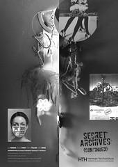 secret archives (Otto Rivers) Tags: art portraits galeries belgium belgique collages bruxelles flipchart peintures expos artiste contemporain benoitpiret
