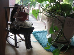 Via found a big apple (aly7kat) Tags: red plant flower green apple rock pose giant relax j leaf big holding chair doll sitting relaxing posing via sit sat rocking rockingchair relaxed leafs appia viaappia jdoll