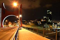 Take a Look Around (Alonso Reyes) Tags: espaa museum architecture modern night frank puente noche la spain torre country gehry bilbao guggenheim museo titanium basque vasco euskadi vizcaya bilbo pais salve csar biskaia nervin iberdrola biscay pelli museoa