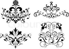 Collect element for design, set flower, vector (brooke.gardner90) Tags: summer wallpaper abstract flower art love floral leaves tattoo illustration corner circle spiral marquee design artwork heraldry pattern panel image antique background border gothic decoration victorian overlay icon parchment brush medieval crest retro artnouveau ornament invitation header clipart fancy shield ribbon organic vector scroll element cartouche filigree liane flourishes dingbat
