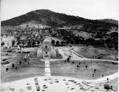 Aerial View of War Memorial c1950s - Looking North (ArchivesACT) Tags: aerial canberra campbell australianwarmemorial archivesact