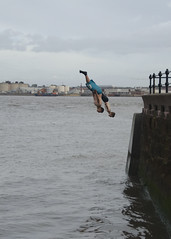 7 (Stephen Whittaker) Tags: water ferry river back divers dive free diving flip acrobatics diver runner mersey egremont