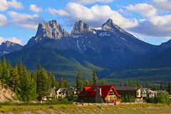 Three Sisters Mountains (ashockenberry) Tags: canada mountains sisters landscape rockies three scenery rocky canadian alpine alberta canmore slicesoftime mygearandme