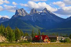 Three Sisters Mountains (ashockenberry) Tags: canada mountains sisters landscape rockies three scenery rocky canadian alpine alberta canmore slicesoftime mygearandme