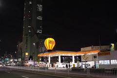 Gas station, Meieki-Dori, Nagoya (kinpi3) Tags: street japan night cityscape nagoya gr ricoh meieki