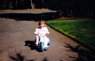 Biking in the driveway
