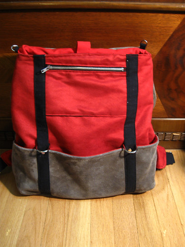 Vulpes familiaris Cooper backpack: under the flap
