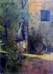 Eugenio Prati Il molino Prati a Caldonazzo 1906 olio su tela 76 x 55 cm Collezione privata