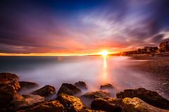 Long Exposure Sunset (jpmiss) Tags: longexposure sunset nd1000 poselongue coucherdesoleil couleurs colors nice frenchriviera cotedazur promenadedesanglais france jpmiss canon 6d 1635mm nothdr