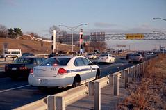 Traffic Police (dtanist) Tags: new york city nyc newyorkcity newyork film car brooklyn analog zeiss bay belt traffic kodak crash accident police ridge contax shore parkway cop promenade g1 100 45mm planar ektar carlzeiss
