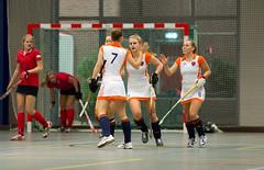 P1022290 (roel.ubels) Tags: hockey sport nederland indoor dusseldorf hc oranje 2014 oefenwedstrijd zaalhockey valkenhuizen