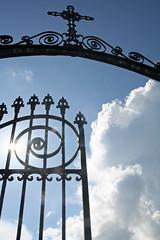 gate in sun