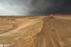 Kuwait - Alsalmi - The Approaching Desert Storm At star Sunset (Sarah Al-Sayegh Photography | www.salsayegh.com) Tags: desert kuwait الصحراء landscapephotography الكويت الغروب stateofkuwait كانون leefilters الرمال canon5dmark3 sarahhalsayeghphotography infosalsayeghcom