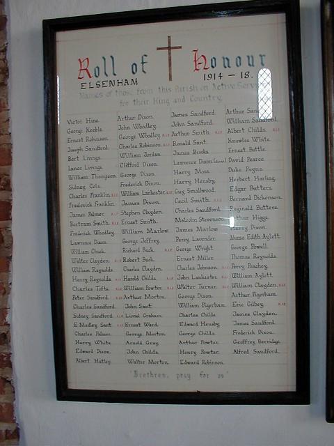 Roll_of_Honour_1914_18_Elsenham_Church