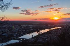 Sunset over Heidelberg IV (boettcher.photography) Tags: sunset sky river germany deutschland evening abend sonnenuntergang view himmel heidelberg aussicht fluss neckar badenwrttemberg theodorheussbridge sashahasha boettcherphotography