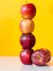 fruity tower (barit) Tags: red rot tower apple yellow fruit stack gelb apples turm apfel obst 2014 stapel pfel