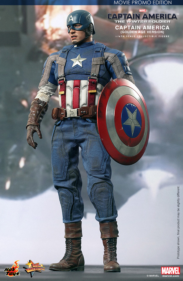 Hot Toys – MMS240 – 美國隊長2:酷寒戰士: 1/6比例 美國隊長 (黃金時代 Ver.)