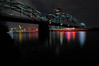 """Main river by night"" (Karel Hrouzek P H O T O) Tags: bridge tower skyline dark deutschland lights nikon long exposure frankfurt main tripod sigma rail le ecb d300 anawesomeshot mygearandme"