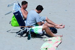Guys on beach (LarryJay99 ) Tags: ocean blue shirtless sky people hairy men guy beach pier fisherman sand couple toes nipples legs florida chest sandy profile bluesky guys atlantic thighs barefoot shorts knees atlanticocean junobeach barefootfeet canonefs18135mmf3556is ilobsterit