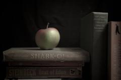 teachers pet. (I AM JAMIE KING) Tags: stilllife nerd apple geek books teacher bookworm swot