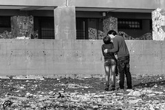 Even if I can no longer see you, I'll love you anyway until the end of time (Fabio Scarano) Tags: street bw woman white man black love donna kiss kissing couple strada fabio bn lovers uomo e and fotografia bianco nero amore bacio photografy amanti scarano