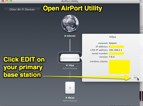 Open AirPort Utility - EDIT Primary Base by Wesley Fryer, on Flickr