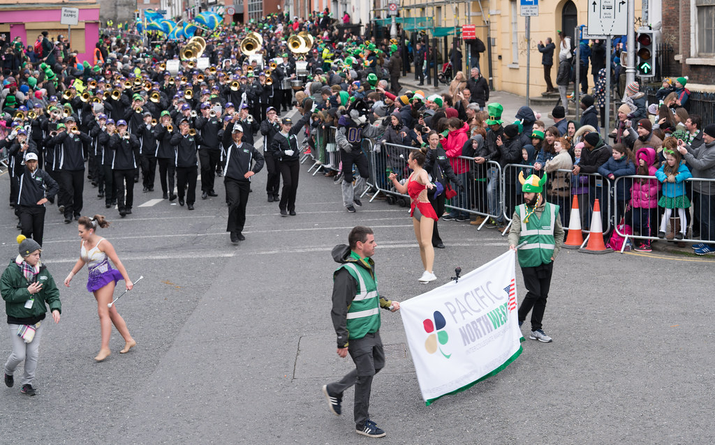 Pacific Northwest Intercollegiate Marching Band [St. Patricks Day Parade In Dublin 2017]-125718