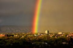 The Pot Of Gold is ... (Aspenbreeze) Tags: colorado grandjunction grandjunctioncolorado rainbow nature sky rain weather brilliantrainbow evening dusk bevzuerlein aspenbreeze moonandbackphotography