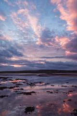 Sunset, Lock Gruinart, Isle of Islay (milo42) Tags: island httpwwwchrisnewhamphotographycouk northern adventure 2016 islay scotland isle isleofislay northernadventure2016islay gruinart unitedkingdom gb landscapesshotinportraitformat sunset clouds water outdoors lochgruinart
