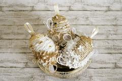 OvetteShabby_02w (Morgana209) Tags: ovetti uova decorazione shabby easter pasqua riciclo cartadapacco sacchettodelpane fiorellini perline fattoamano handmade diy creatività riciclocreativo recupero